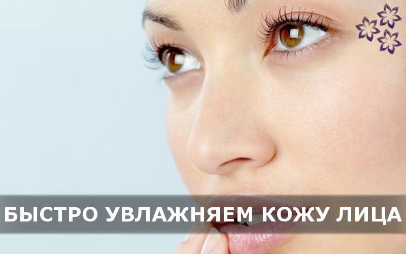 Как быстро увлажнить кожу лица